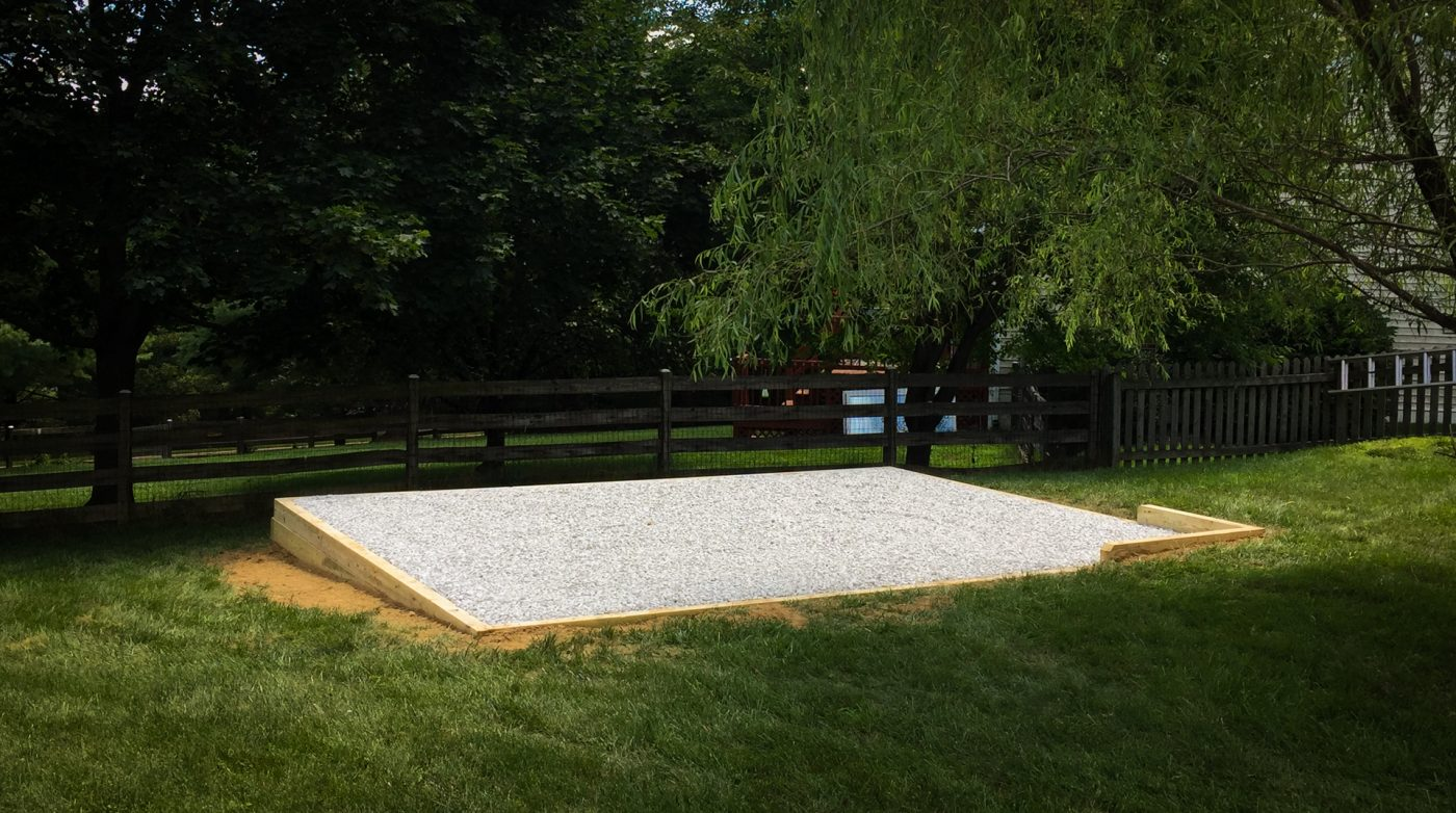 Available gravel shed foundation in Connecticut
