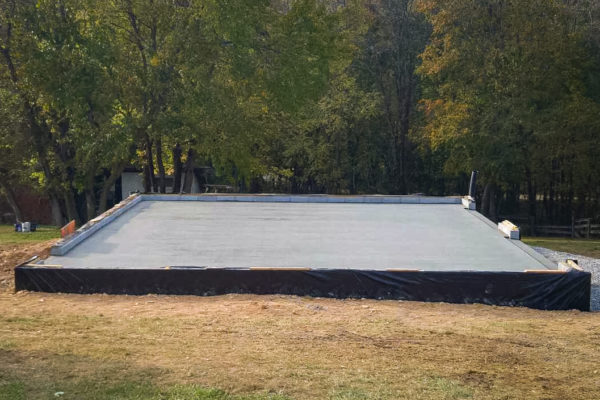 Concrete garage foundation in Frederick, MD