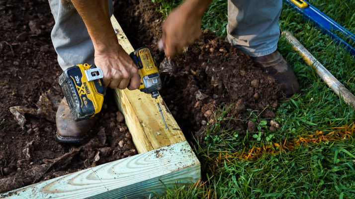 Building a shed foundation in Virginia