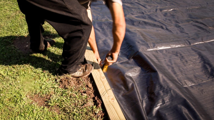 Installing a shed base in Virginia