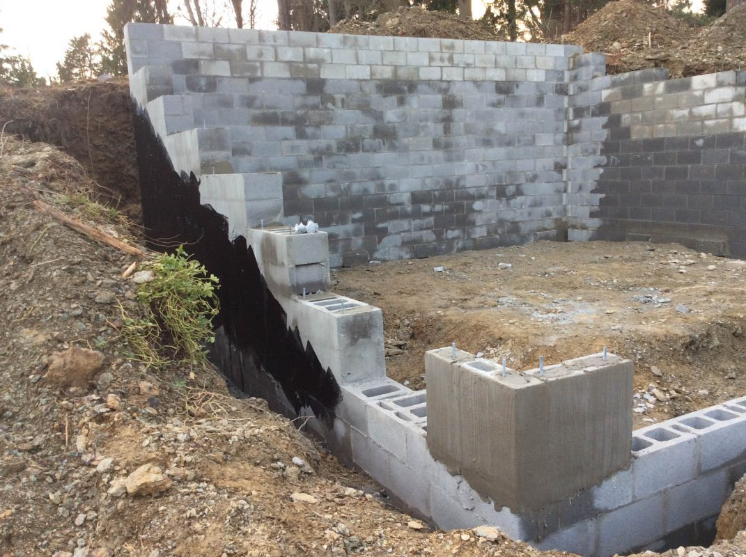 Building a garage foundation on a hillside