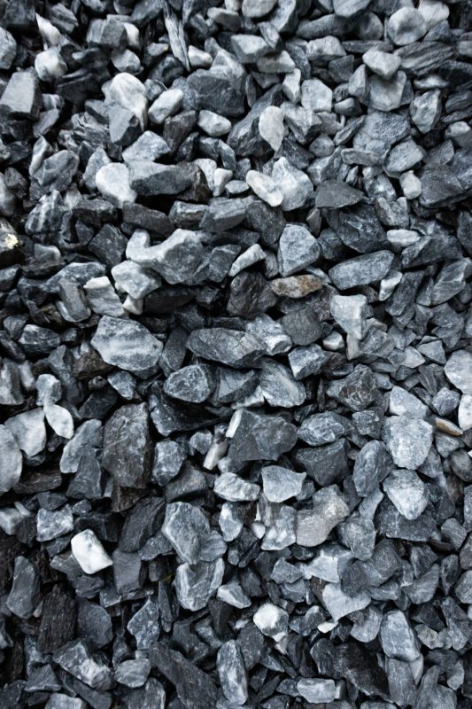 """3/4"""" clean stone for installing a gravel shed foundation"""