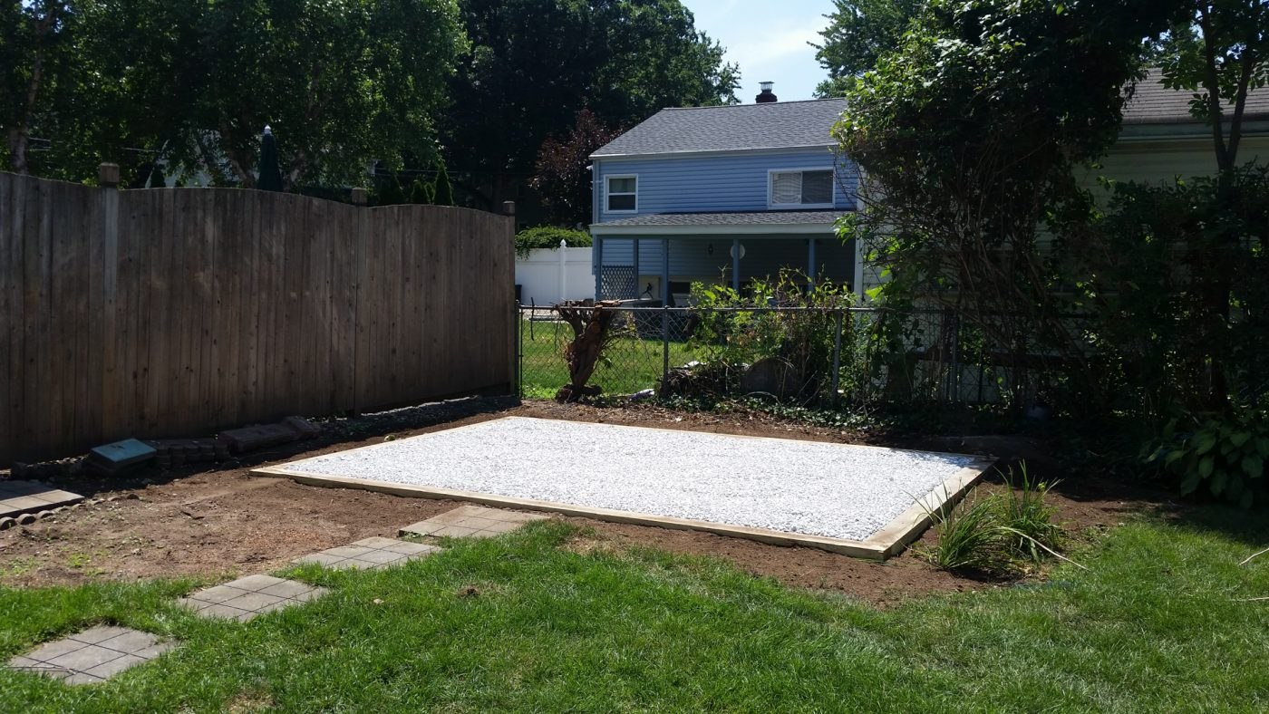 How to install a gravel shed foundation in an accessible location.