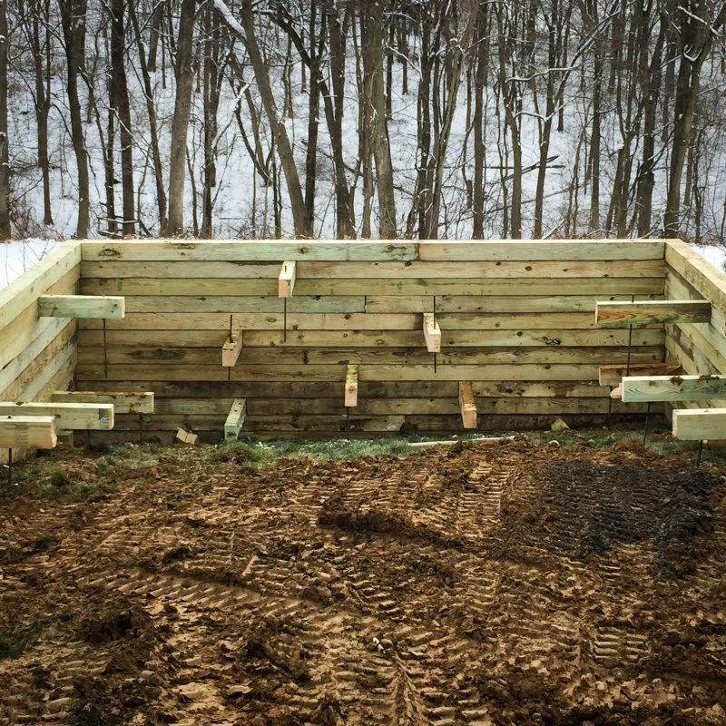 How to install a gravel shed pad with bracing