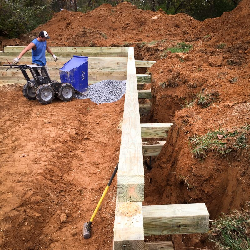 How to install a gravel shed foundation with bracing