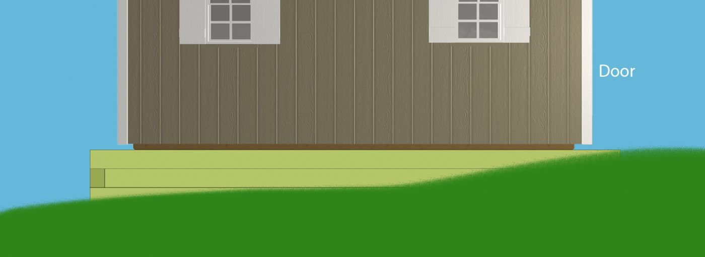 How to install a gravel shed foundation on a grade