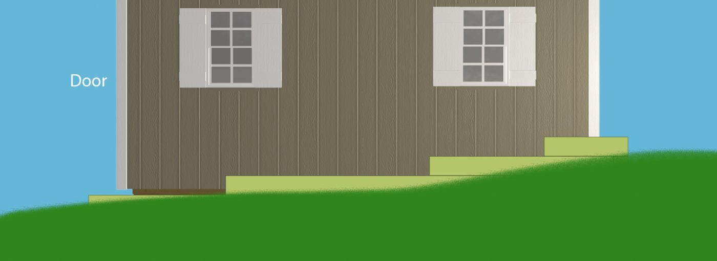 How to install a gravel shed pad on a hill