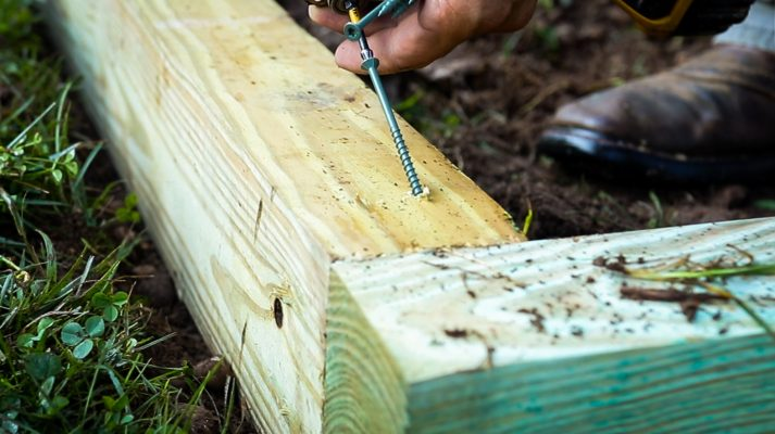 How to fasten a gravel shed foundation