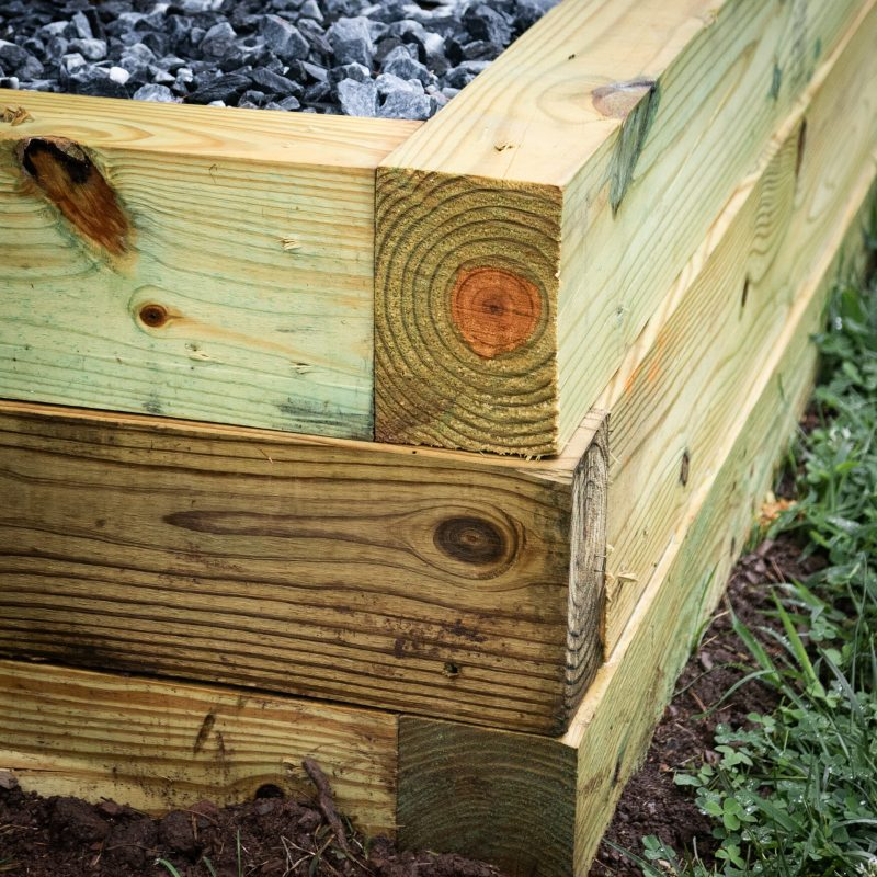 How to install the corner of a gravel shed foundation