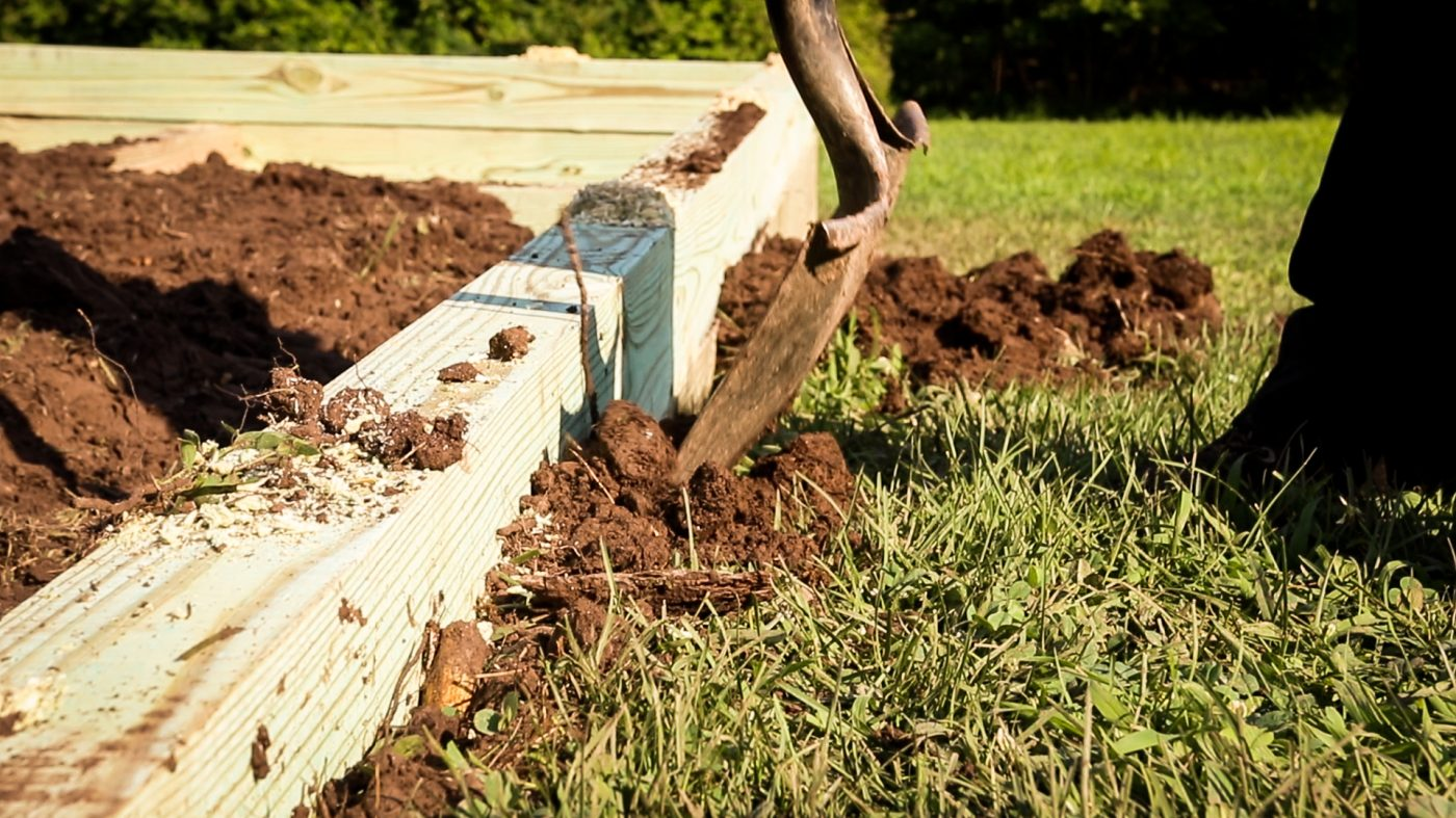 Installing the perimeter for a gravel shed foundation