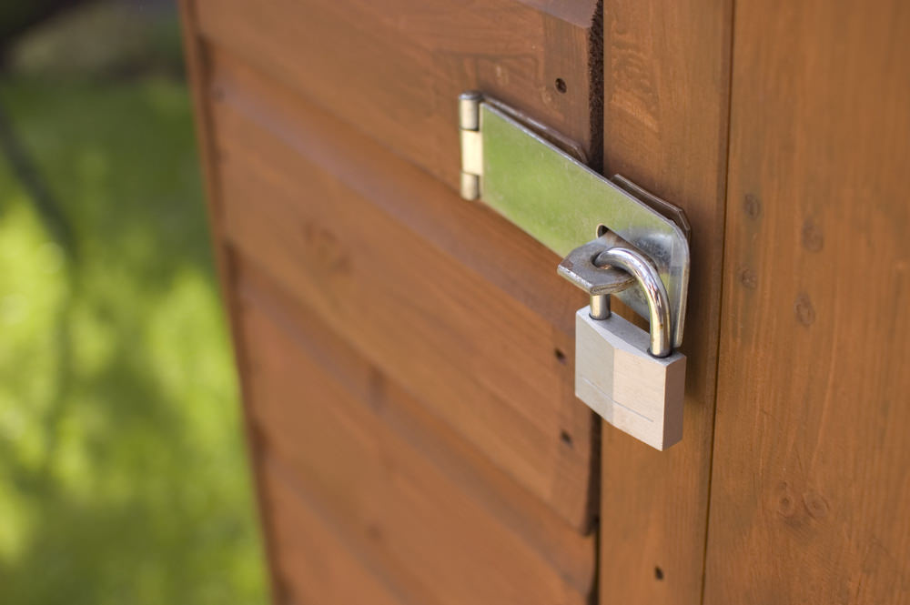 storage shed location security