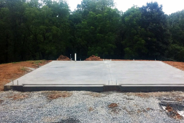 A concrete foundation installation in Pennsylvania