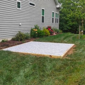 A stone pad installation in Maryland