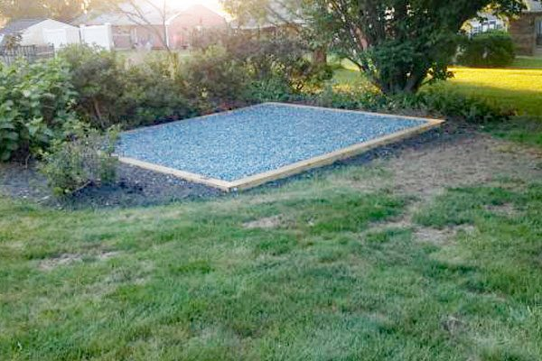 Custom garage Concrete Pad