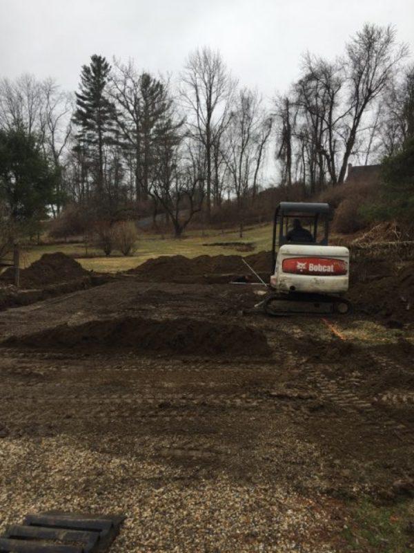 Site preparation for a garage installation