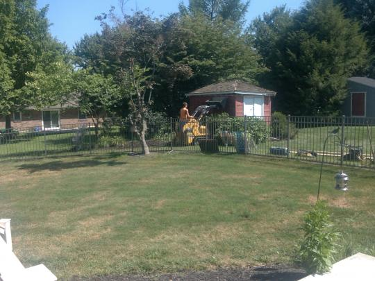 Shed pad installation