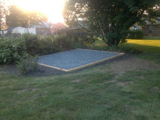 willow street shed pad installation