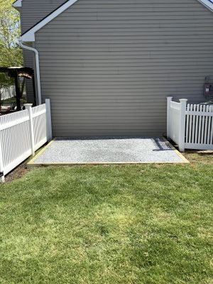 a gravel shed foundation in Coatesville, PA