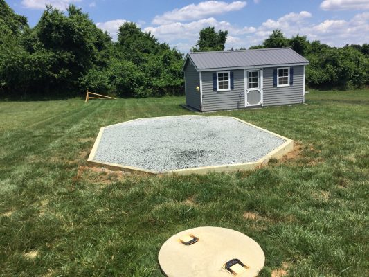 A gravel gazebo foundation in Elkton, MD
