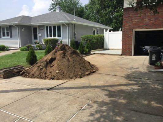 Installing a crushed stone shed pad in Fair Lawn, NJ