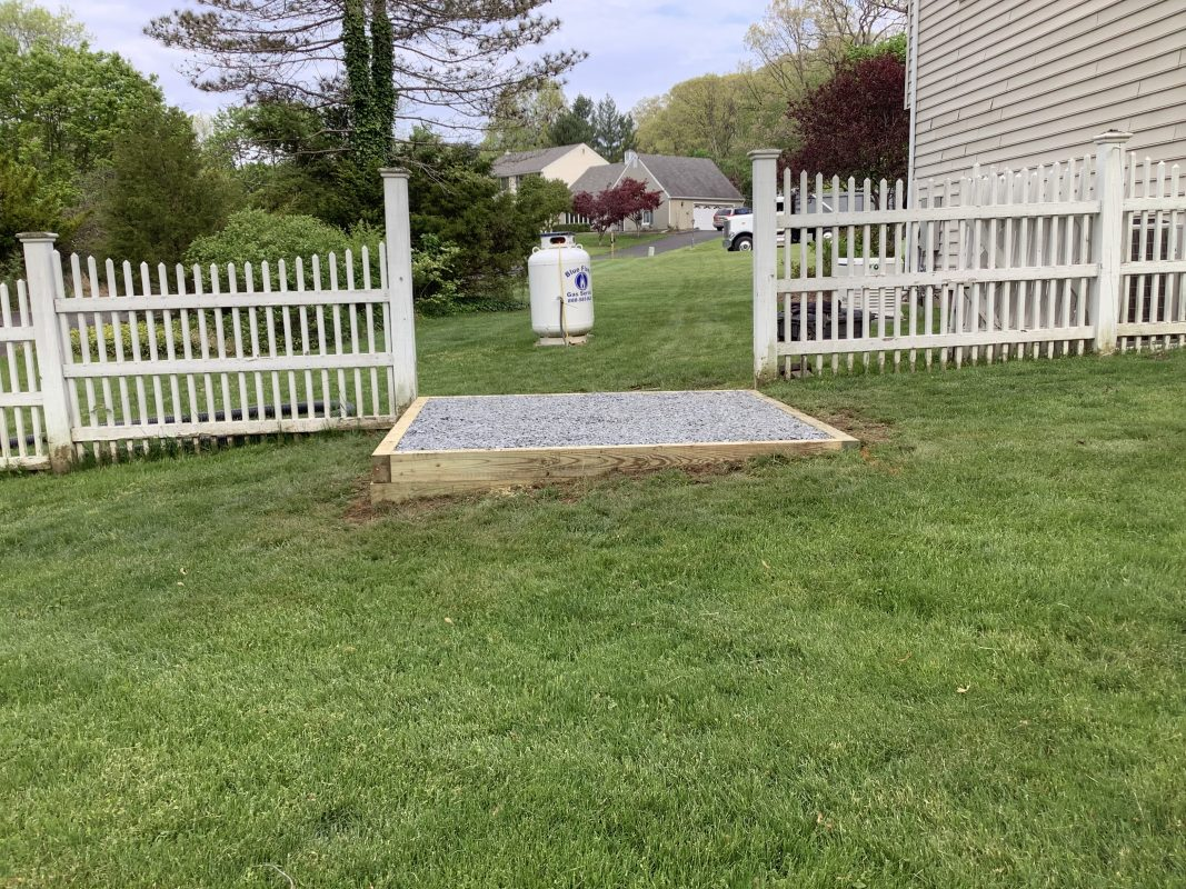 Shed foundation built in Doylestown, PA