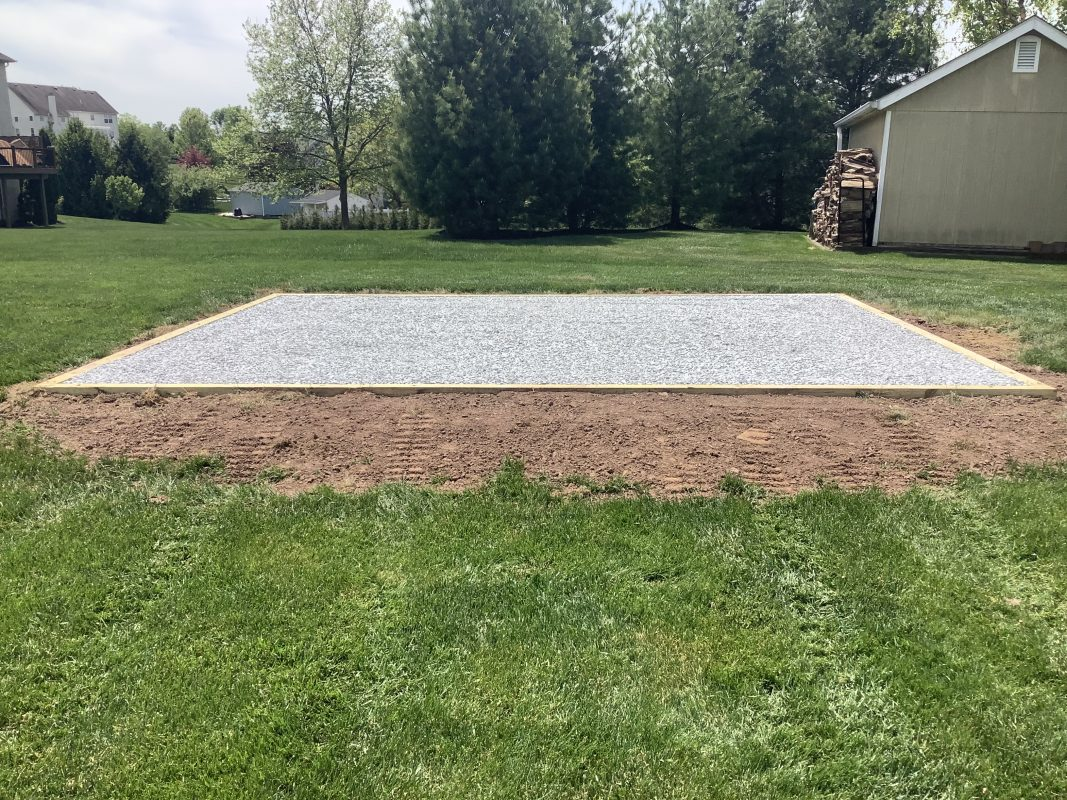 Shed foundation built in Royersford, PA