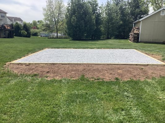 Gravel shed pad in Royersford, PA