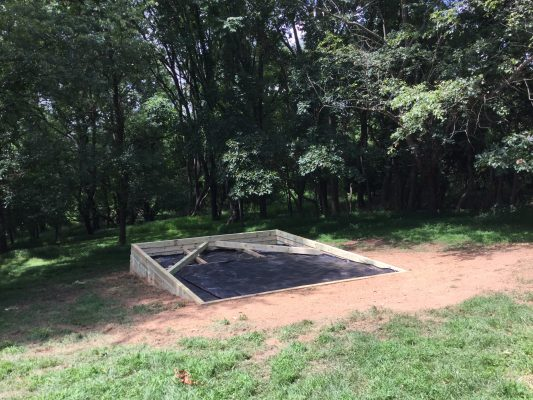 Installing a gravel shed foundation in Laytonsville, MD