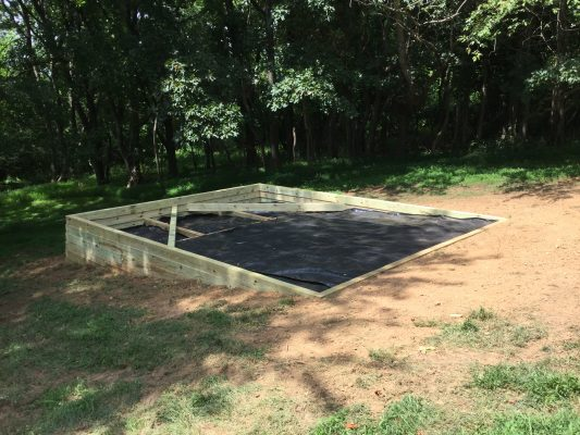 Building a shed foundation in Maryland