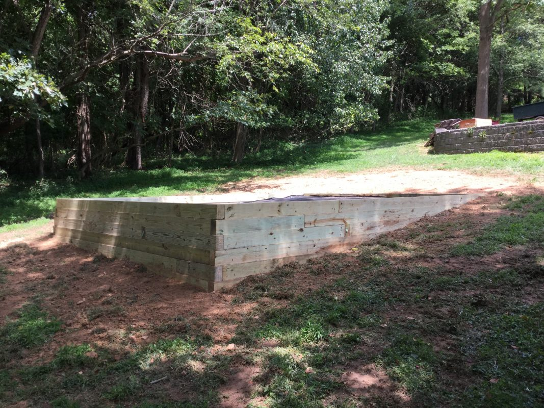 A gravel shed foundation in Laytonsville, MD