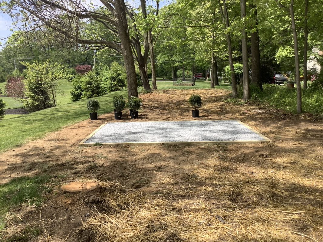Shed pad installed in Downingtown, PA