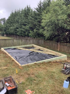 Building a gravel shed foundation in Boonsboro, MD