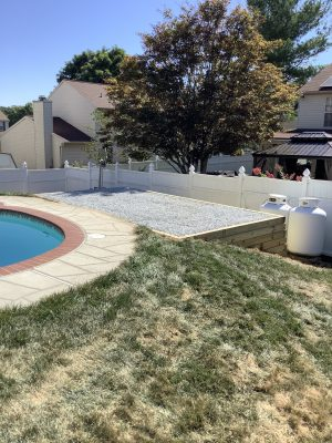 A gravel shed foundation built in Randallstown, MD
