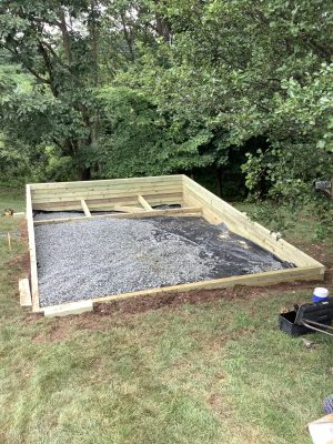Building a shed foundation in Pennsylvania