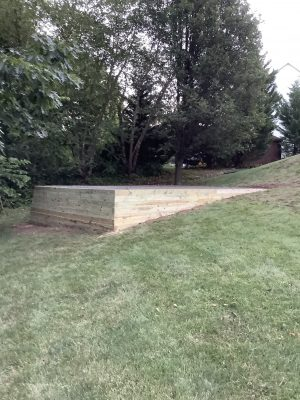 Foundation for a shed in Royersford, PA
