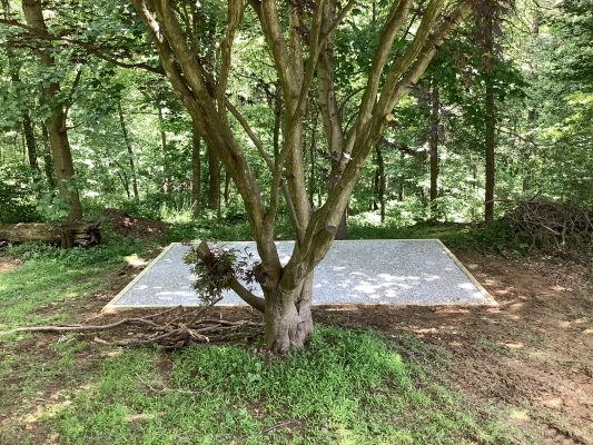 A shed foundation in Sykesville, MD