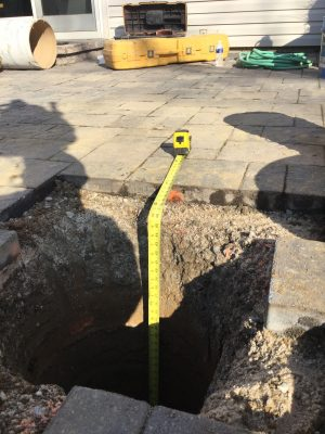 A gravel shed foundation in Exton PA