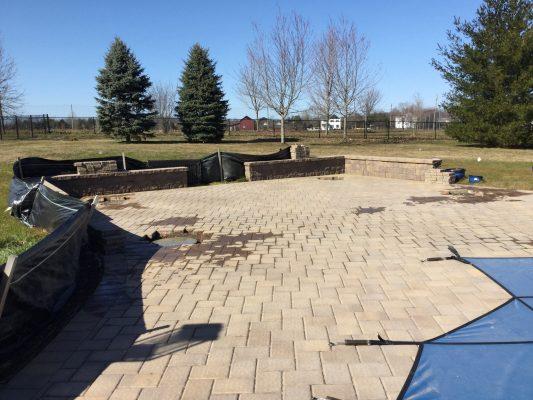 A concrete pier pavilion foundation in Monroe Township NJ