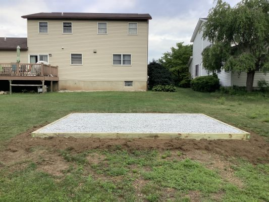 A gravel foundation in Wilkes-Barre, PA