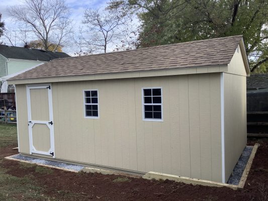"""A gravel shed foundation in Raritan, NJ"""