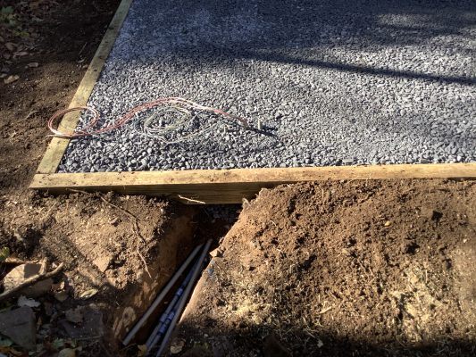 """""""A gravel shed foundation in Lansdale, PA"""""""