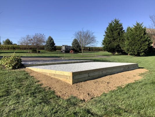 """""""A gravel shed foundation in Oxford, PA"""""""