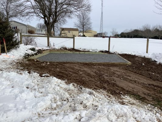 A gravel shed foundation in Holtwood, PA