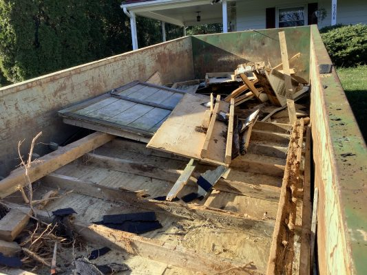 A gravel shed foundation in Sykesville, MD