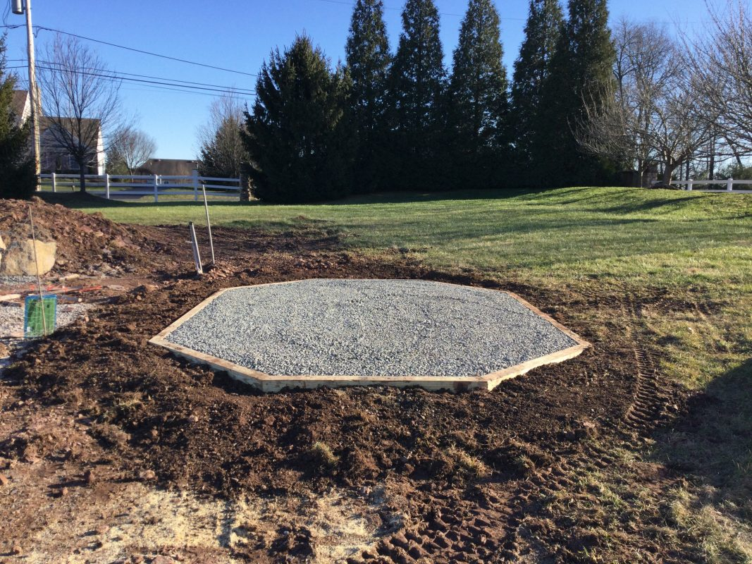 A gravel shed foundation in Skippack, PA