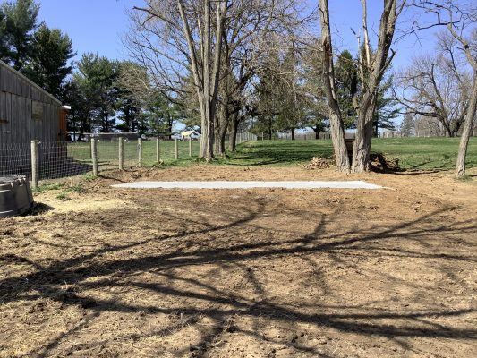 A horse barn foundation in Kennett Square PA
