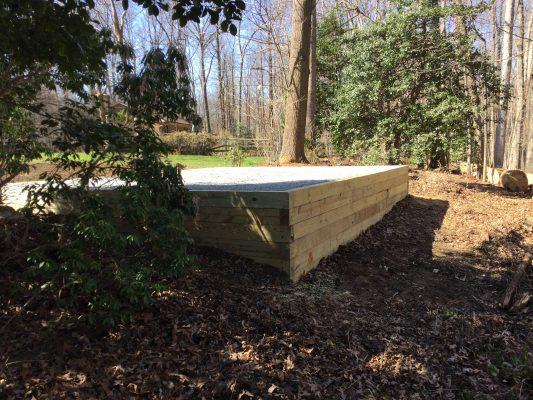 Gravel shed foundation in Oakton VA