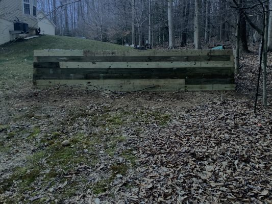 A gravel shed foundation in Fort Washington MD