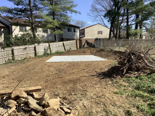 Gravel shed foundation in Willow Grove Pa
