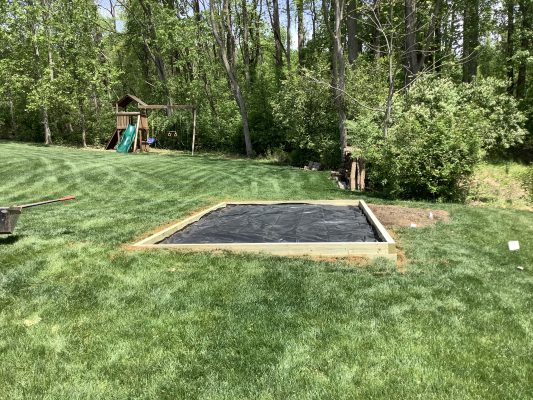 Installation of a shed foundation in Downingtown, PA